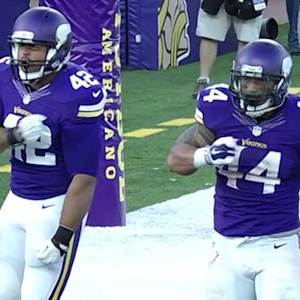 Minnesota Vikings running back Matt Asiata touchdown and 2-point conversion