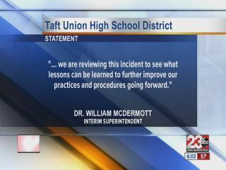 Taft School District responds to shooting