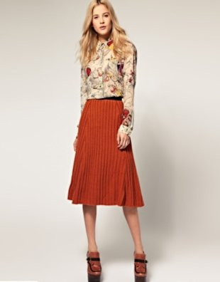 Ribbed Knitted Midi Skirt, $21.29