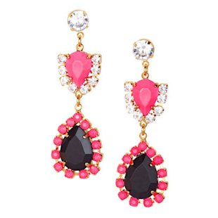 Neon Pink Metal Earrings H&M: What To Wear: Night Out