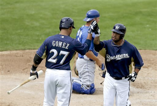 Gallardo strong for 6 1-3 innings, Brewers top KC