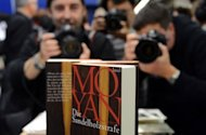 A book by 2012 Nobel Literature Prize winner on display at the 64th Frankfurt Book Fair. Mo Yan, one of China's leading writers of the past half-century, has won the Nobel Literature Prize for his writing that mixes folk tales, history and the contemporary, the Swedish Academy announced