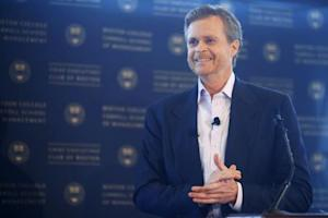 Nike CEO Mark Parker speaks at the Boston College CEO's Club of Boston luncheon in Boston