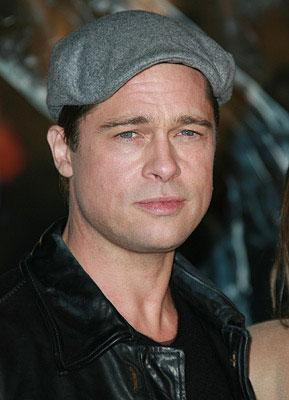 Brad Pitt at the Westwood premiere of Paramount Pictures' Beowulf