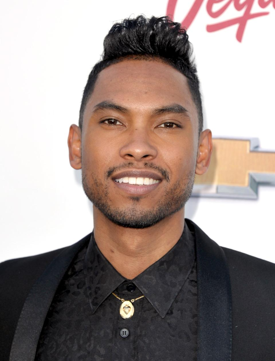 Miguel arrives at the Billboard Music Awards at the MGM Grand Garden Arena on Sunday, May 19, 2013 in Las Vegas. (Photo by John Shearer/Invision/AP)