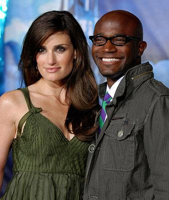 Idina Menzel and Taye Diggs at the Los Angeles premiere of Walt Disney Pictures' Enchanted