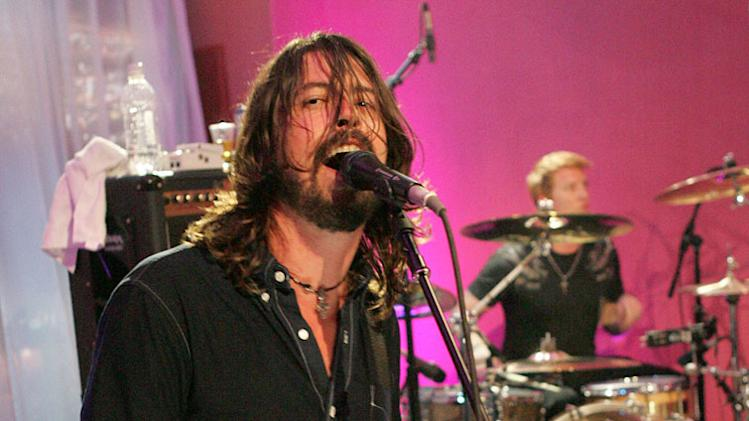 Dave Grohl of Foo Fighters performs during the 2007 MTV Video Music Awards at The Palms Hotel and Casino.