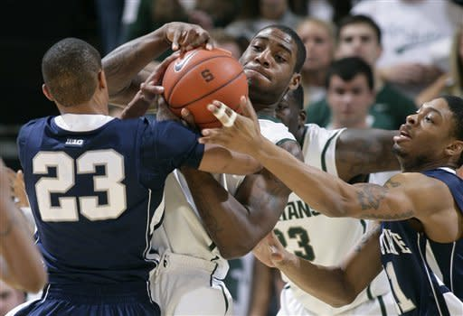 No. 11 Michigan State beats Penn State 77-57