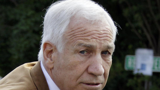 FILE - In this June 22, 2012 file photo, former Penn State assistant football coach Jerry Sandusky arrives at the Centre County Courthouse in Bellefonte, Pa. A commission set up by the Pennsylvania Legislature after Jerry Sandusky's molestation arrest last year will issue a report that could recommend changes to state law. (AP Photo/Gene J. Puskar, File)