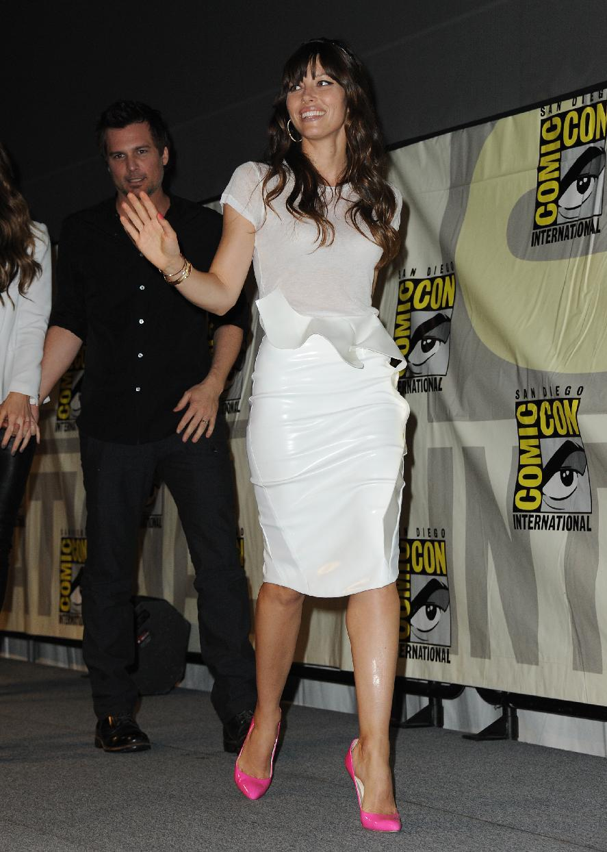 "CORRECTS DATE TO FRIDAY JULY 13 - Jessica Biel attends the ""Total Recall"" panel at Comic-Con on Friday, July 13, 2012 in San Diego, Calif. (Photo by Jordan Strauss/Invision/AP)"