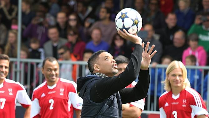 Will And Jaden Smith Open The UEFA Champions Festival