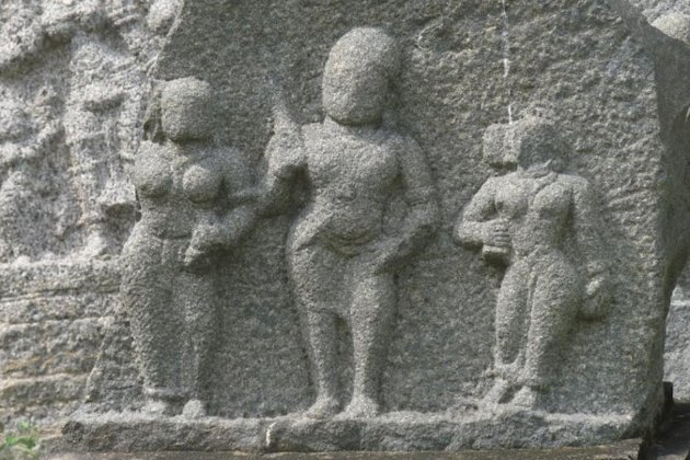 Stone reliefs at Gingee