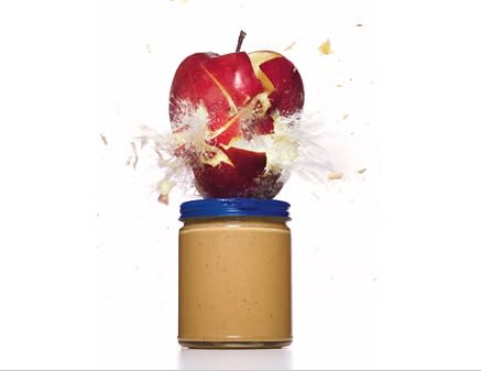 For: More Energy,  Try: AN APPLE WITH PEANUT BUTTER