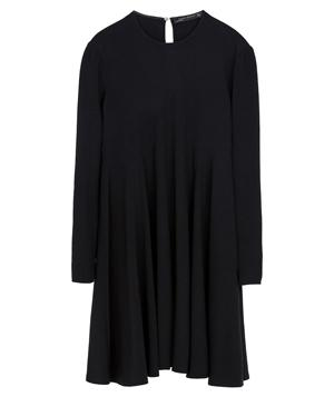 Zara Round Neck Dress With Seams