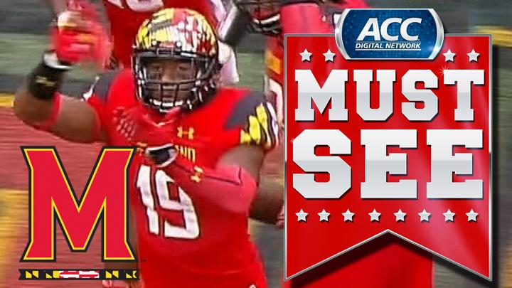 Maryland's A.J. Hendy Returns Interception For Touchdown | ACC Must See Moment