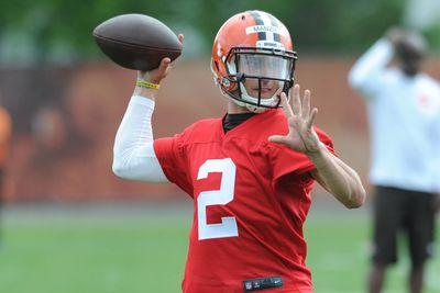 Browns open OTAs with Josh McCown starting, Johnny Manziel as the backup