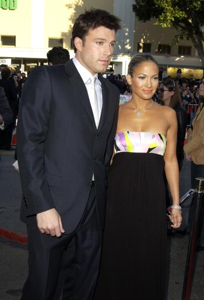 "Jennifer and Ben Affleck aka Bennifer at the ""Daredevil"" premiere in February 2003"