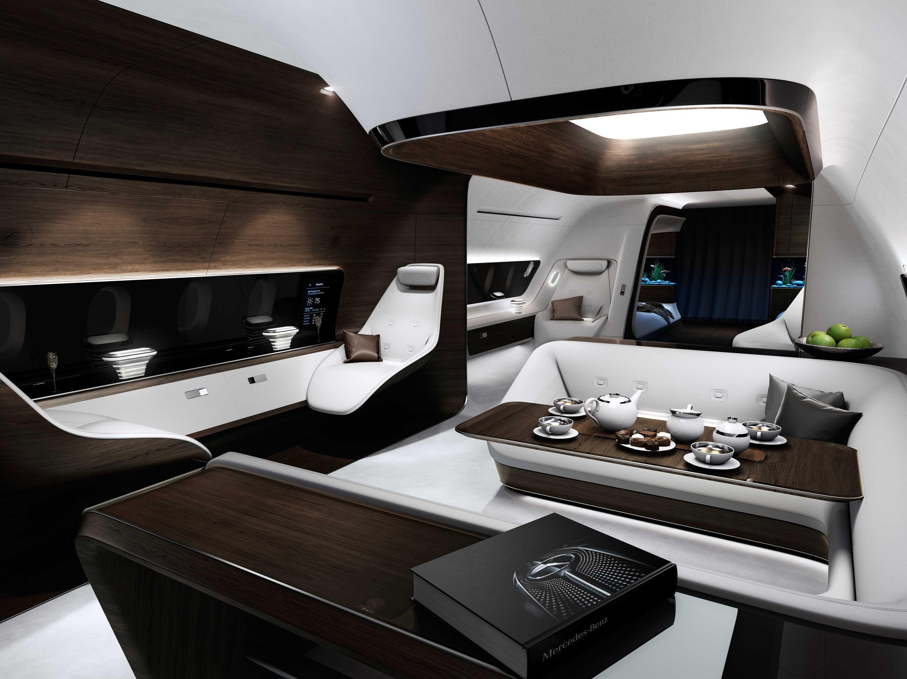 Mercedes-Benz and Lufthansa are designing the ultimate luxury private-jet interior