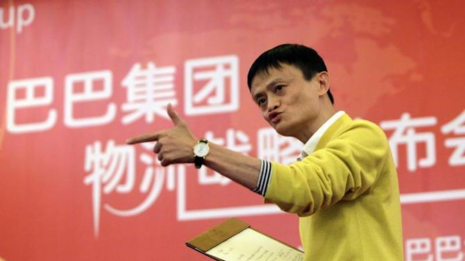 File picture shows Chairman and Chief Executive of Alibaba Group Jack Ma speaking at a news conference in Beijing