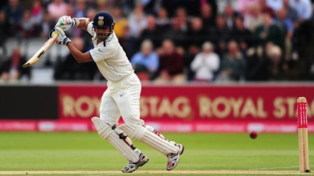 Gautam Gambhir escaped on 36 but was out four runs later as England began the fast track for victory