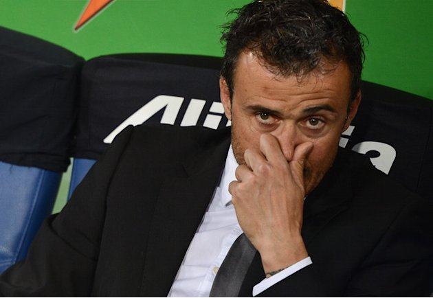AS Roma's Spanish Coach Luis Enrique Gestures AFP/Getty Images