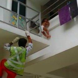 Construction Worker Saves Toddler Dangling From Building Ledge
