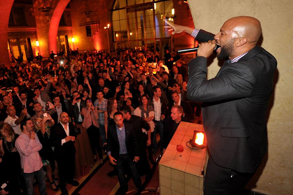 "Common performs at the after party for the premiere of AMC's ""Hell on Wheels"" at Union Station on October 27, 2011 in Los Angeles, California."