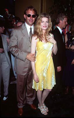 Kevin Costner and Rene Russo at the Westwood premiere of Tin Cup