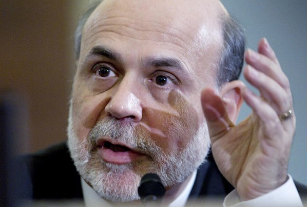 FILE - In this Feb. 2, 2012 file photo, Federal Reserve Chairman Ben Bernanke testifies on Capitol Hill in Washington, before the House Budget Committee. Four times starting Tuesday, March 20, 2012, Bernanke will take a break from his day job to revisit the academic life he led _ and, by all accounts, enjoyed _ before coming to Washington. (AP Photo/Carolyn Kaster, File)