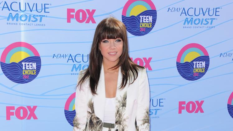 Carly Rae Jepsen arrives at the Teen Choice Awards on Sunday, July 22, 2012, in Universal City, Calif. (Photo by Jordan Strauss/Invision/AP)