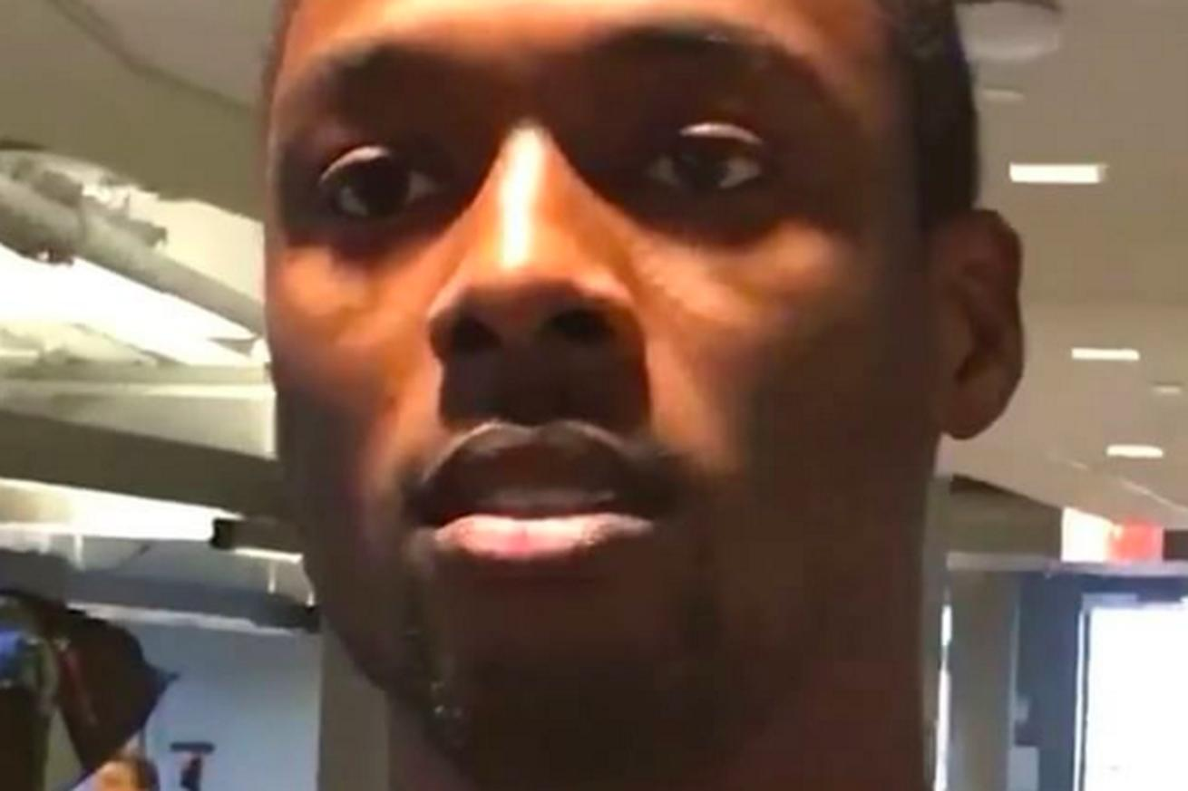 Harrison Barnes made a video showing how sad it is to be in Steph Curry's shadow