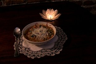 Hearty soup created with seemingly mismatched ingredients will get you through the storm, even if you have eat by candlelight.