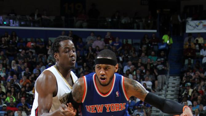 Anthony scores 42, leads Knicks past Pelicans