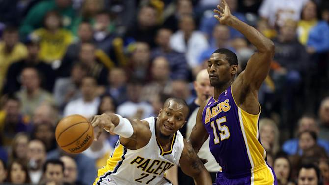 NBA: Los Angeles Lakers at Indiana Pacers