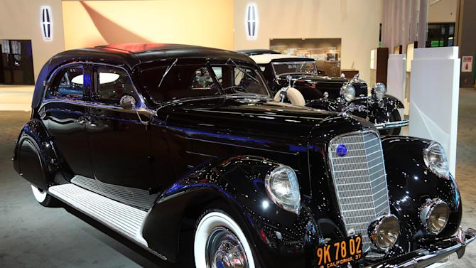 1937 Lincoln Derham Sport Sedan is seen as part of Lincoln's Heritage on Display at the Los Angeles Auto Show press day, Wednesday, Nov. 28, 2012 in Los Angeles. (Photo by Matt Sayles/Invision for Lincoln/AP Images)