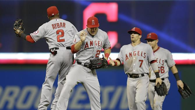 Trout, Shoemaker lead Angels past Indians 9-3