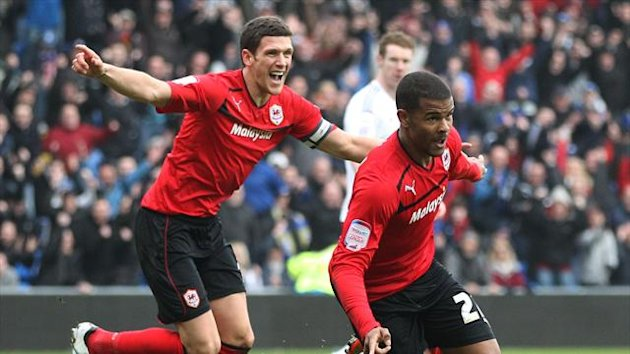 Fraizer Campbell, right, enjoyed a stunning home debut for Cardiff