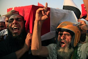 Supporters of Egypt's ousted President Mohammed Morsi …