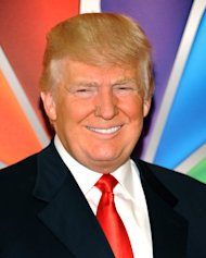 FILE - In a Monday, May 14, 2012 file photo, &quot;Celebrity Apprentice&quot; host Donald Trump arrives for the NBC network upfront presentation at Radio City Music Hall,in New York. The series, which on Monday starts shooting this new season for a March 2013 premiere, announced its slate of 14 contenders Friday morning, Oct. 12, 2012. (AP Photo/Evan Agostini, File)