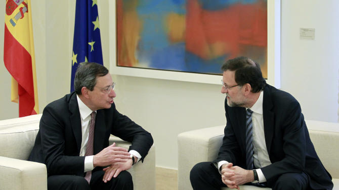 ECB's Draghi: Spain is 'on the right track'