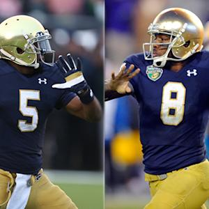 Brian Kelly comments on Ohio State's three quarterbacks