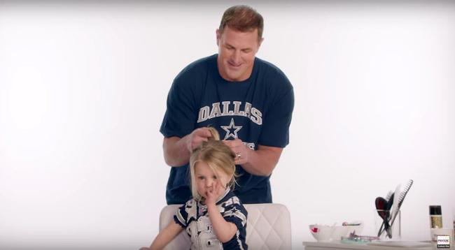 Watch NFL Players Adorably Attempt To Style Their Daughters' Hair