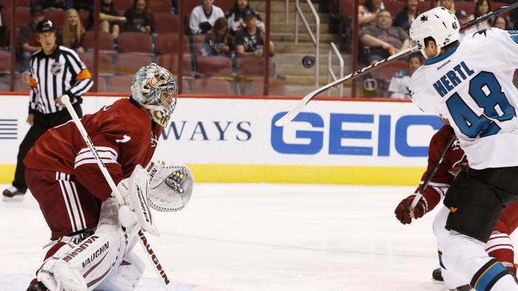 Coyotes beat Sharks 2-1 to end preseason