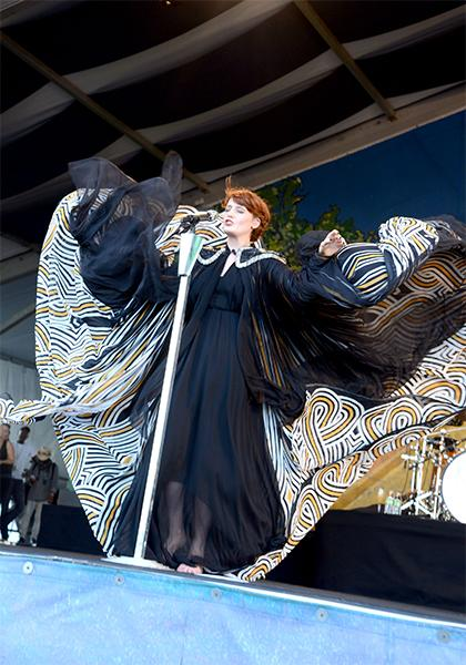 "The ""Ceremonials"" singer is not afraid of the elements. She used the wind to her benefit at the Jazz & Heritage festival in New Orleans this March and let it blow back her billowing cape while no doub"