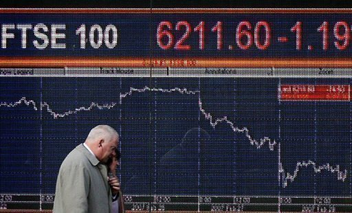 &lt;p&gt;European stock markets mostly rose while the euro fell against the dollar on Monday as a rally sparked by last week&#39;s surprise EU summit deal waned amid more weak eurozone data, analysts said. London&#39;s benchmark FTSE 100 index climbed 0.50 percent to 5,599.06 points approaching midday.&lt;/p&gt;