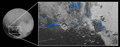 New Horizons captures images of water ice and blue skies on Pluto