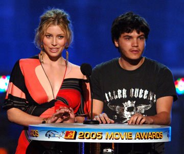 Jessica Biel and Emile Hirsch MTV Movie Awards 2005 - Show Los Angeles, CA - 6/4/05