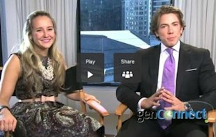 Alexa von Tobel with interviewer Baruch Shemtov
