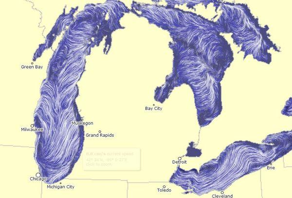 Watch the Water: Great Lakes' Currents Visualized