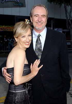 Director Wes Craven with Iya Labunka at the Hollywood premiere of Dreamworks' Red Eye